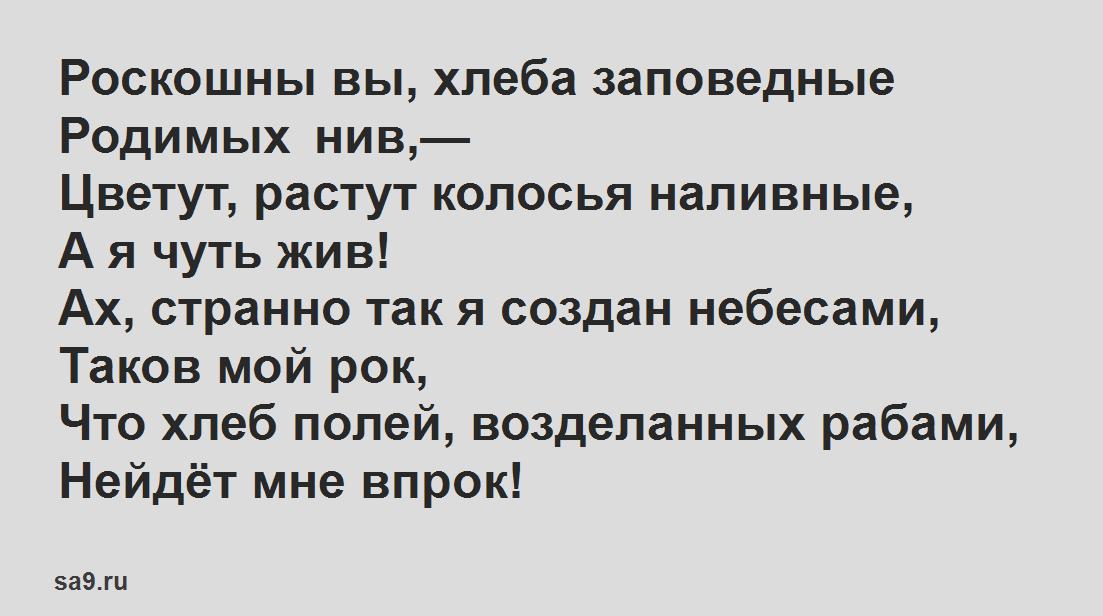 Легкие стихи Некрасова - На Родине