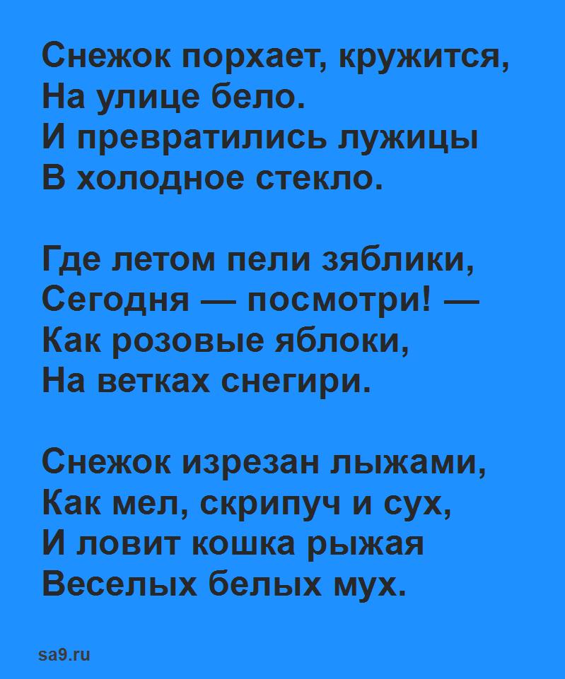 Некрасов стихи короткие - Снежок
