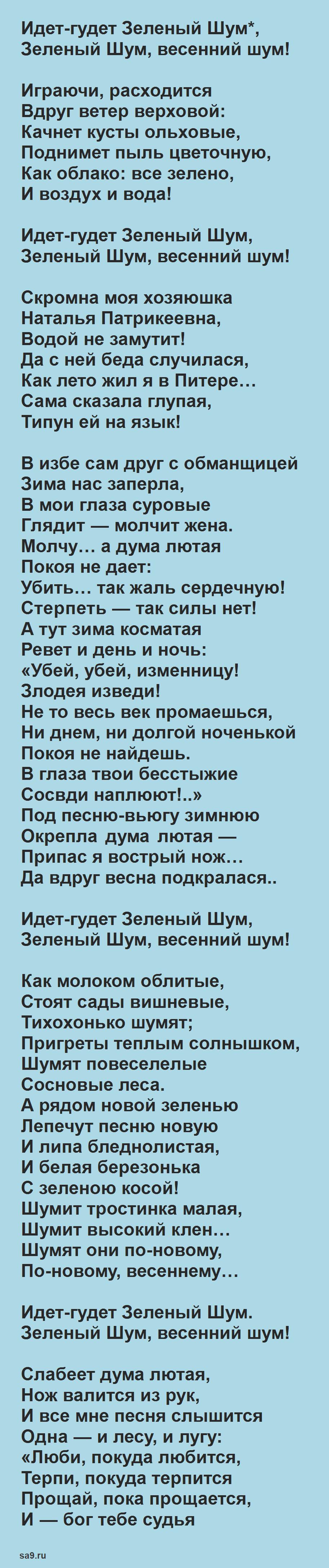 Стихи Некрасова для детей - Зеленый шум