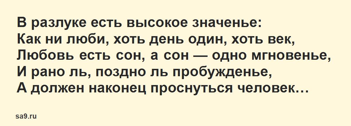 Лучшие стихи Тютчева о любви - В разлуке