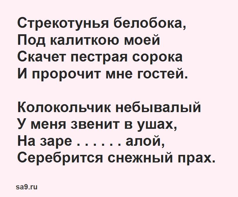 Стихи Пушкина - Стрекотунья белобока, 1 класс