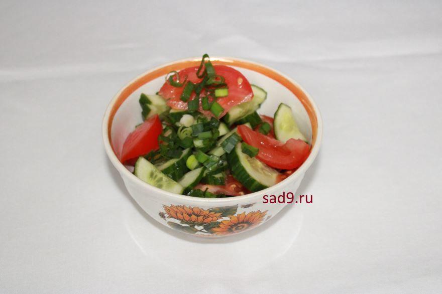 Салат с помидор и огурцов рецепт пошаговый с фото