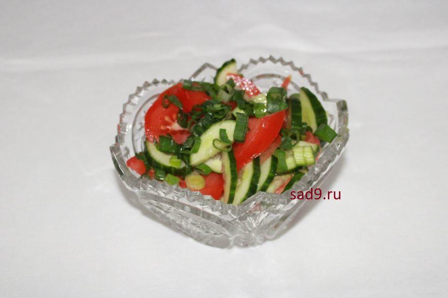 Салат с огурцами и помидорами рецепт, фото