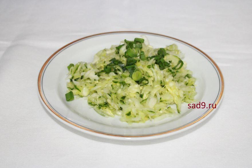 Салат из капусты и огурцов пошаговый рецепт с фото