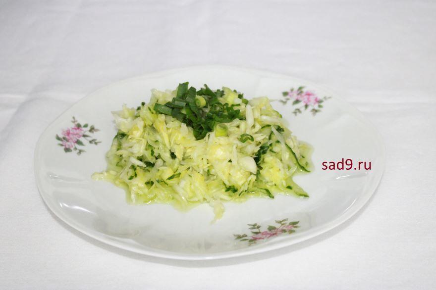Салат из капустой и огурцом, фото