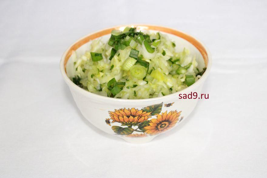 Салат с капусты и огурцов