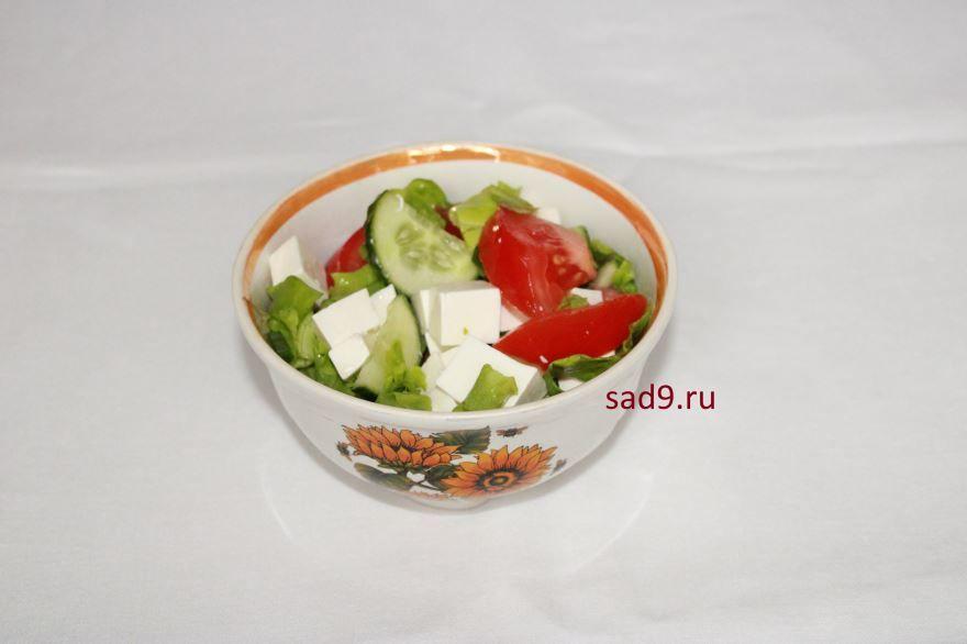 Греческий салат, рецепт с фетаксой