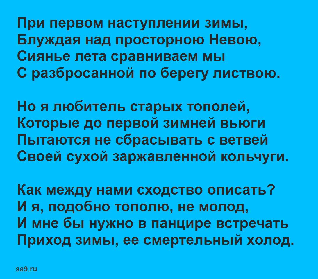 Николай Заболоцкий стихи короткие - При первом наступлении зимы, 12 строк, которые легко учатся