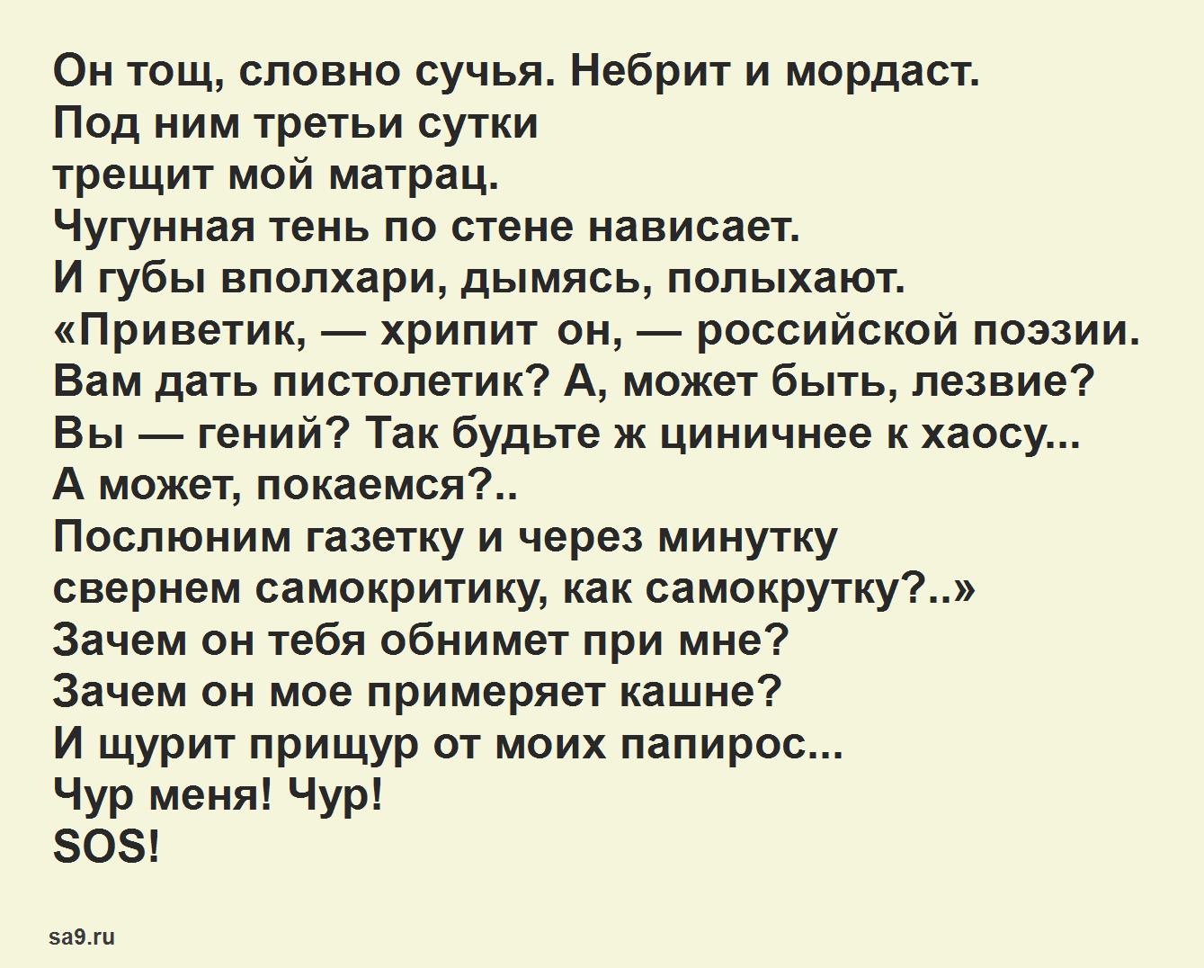 Вознесенский стихи 16 строк - Автопортрет