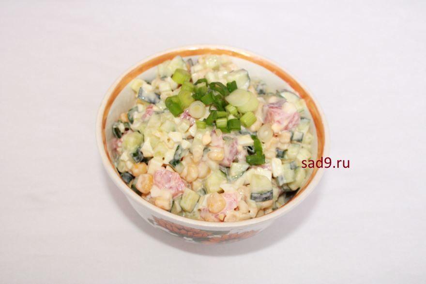 Вкусный салат из семги с фото