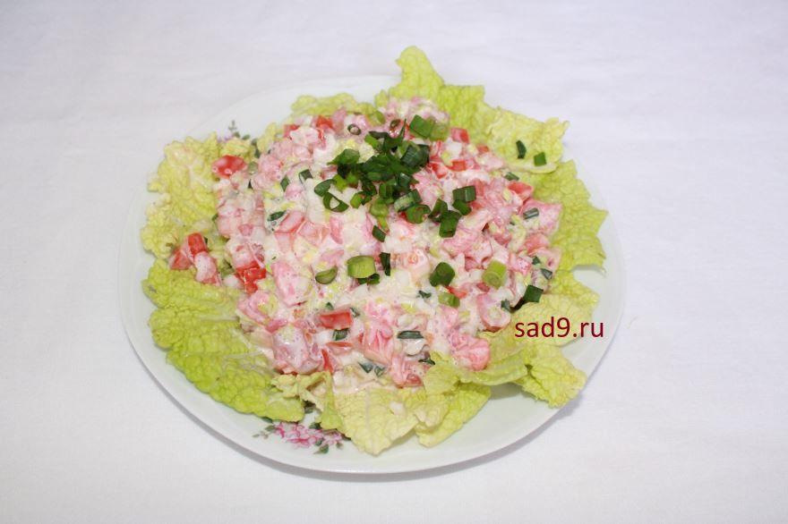 Пошаговый рецепт с фото, салата с семгой