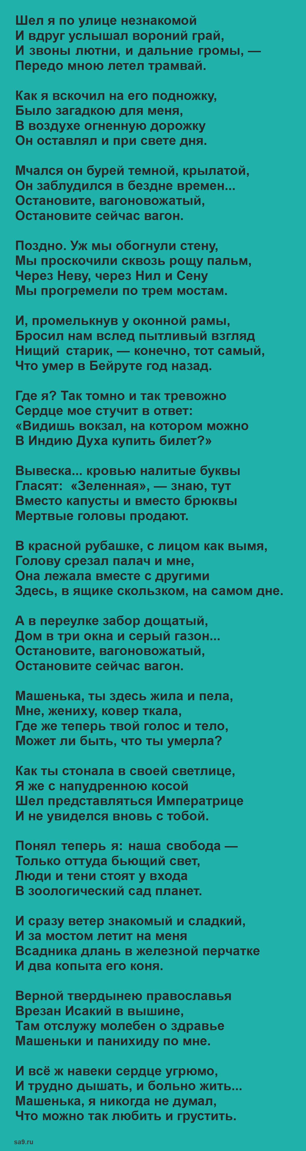 Гумилев стихи лучшее - Заблудившийся трамвай