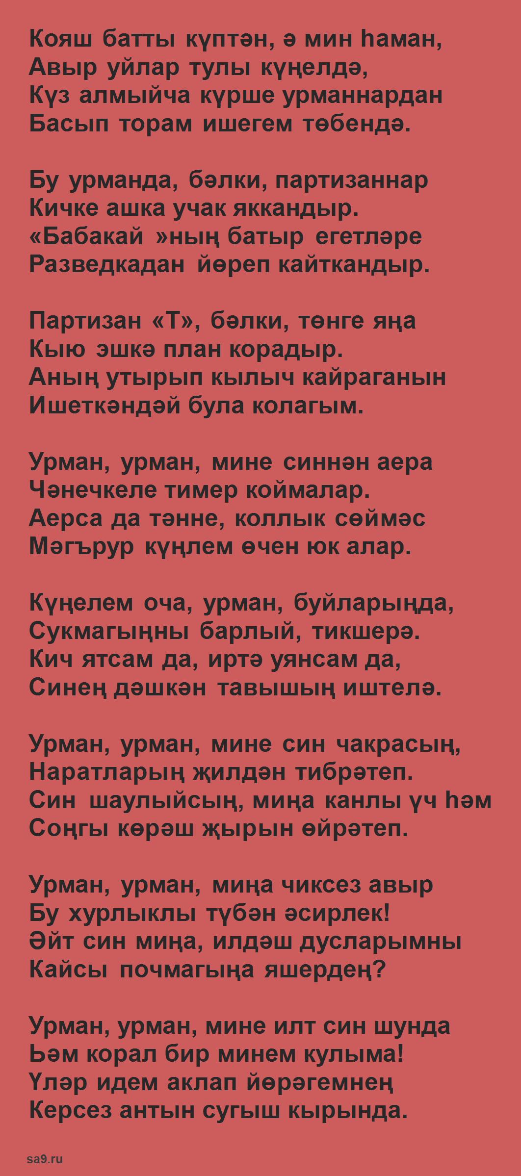 Муса Джалиль стихи на татарском языке - Урман