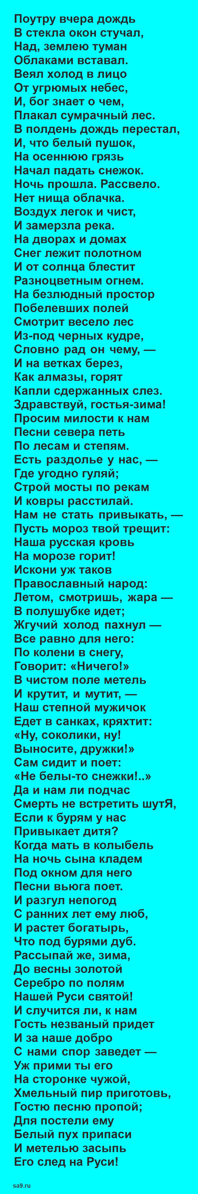 Стихи Никитина - Встреча зимы