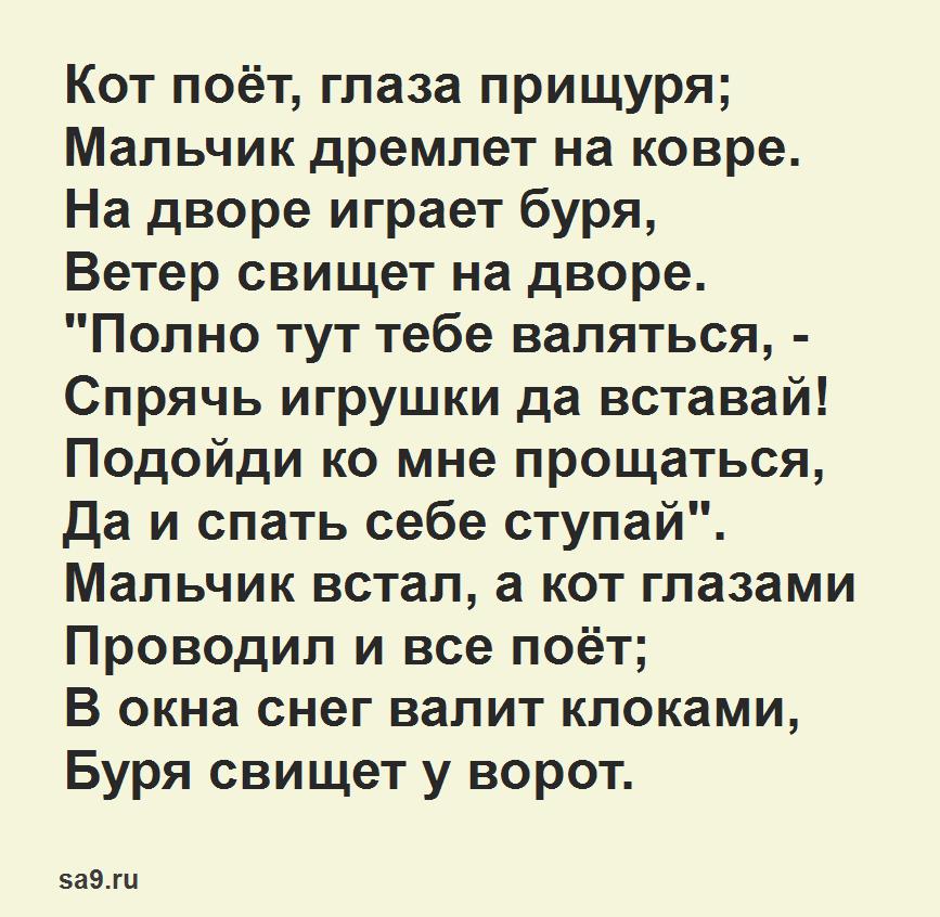 Стихи о зиме, Афанасий Фет для детей