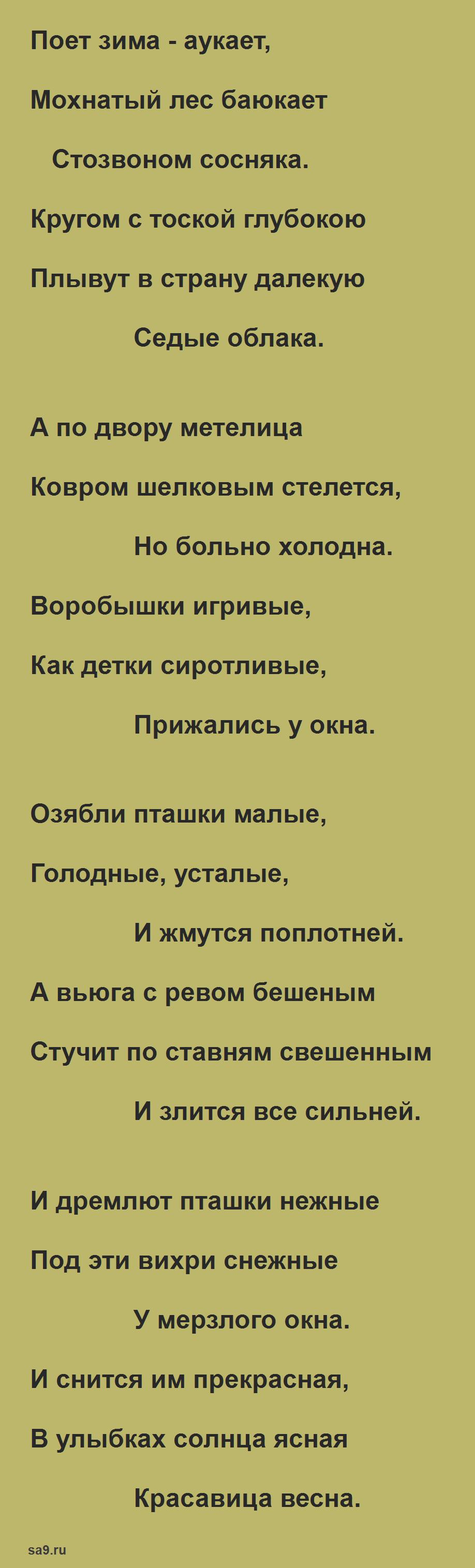Стих - Поет зима, аукает, Есенин