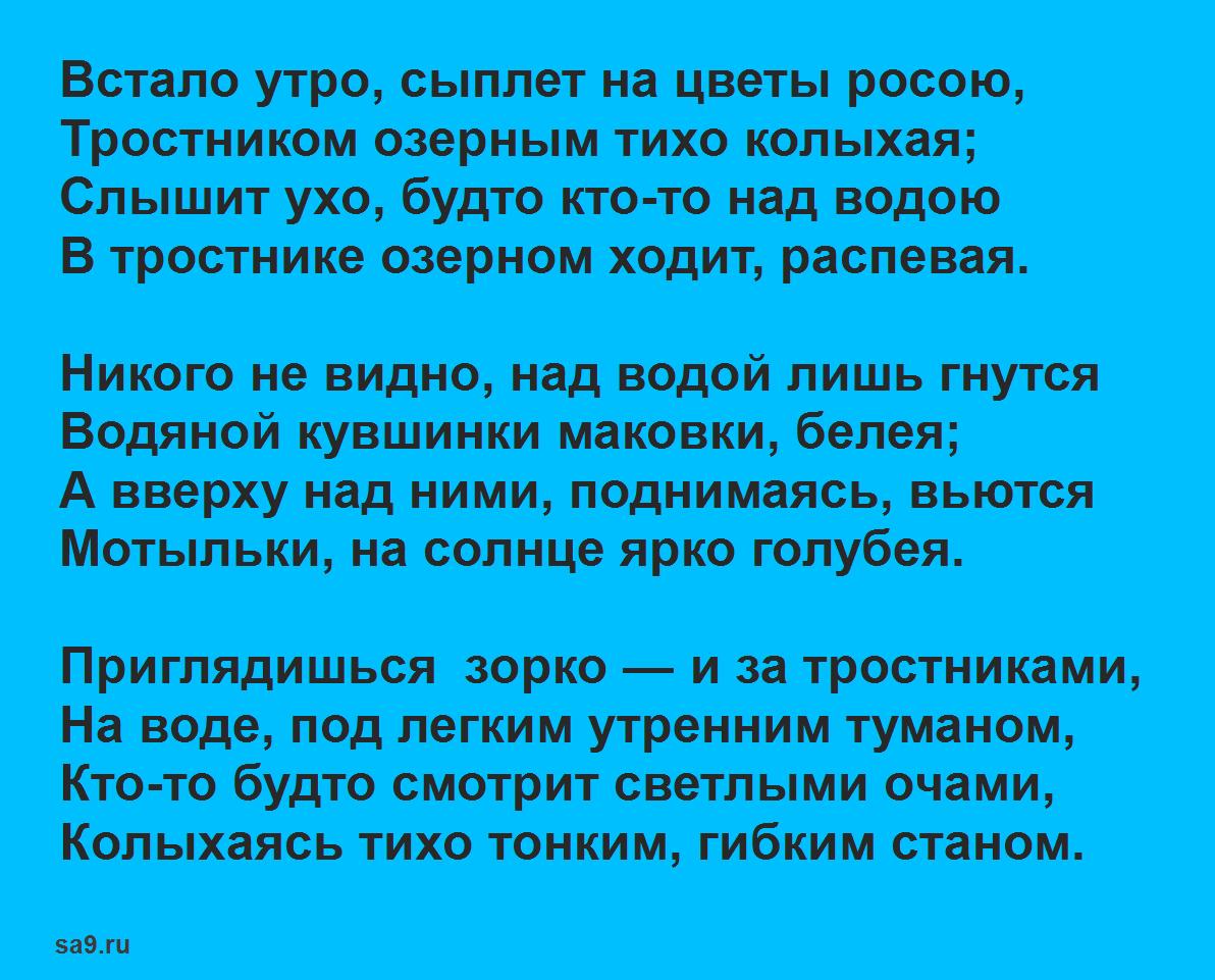 Стихи Сурикова для детей 5 класса - Встало утро, сыплет на цветы росою