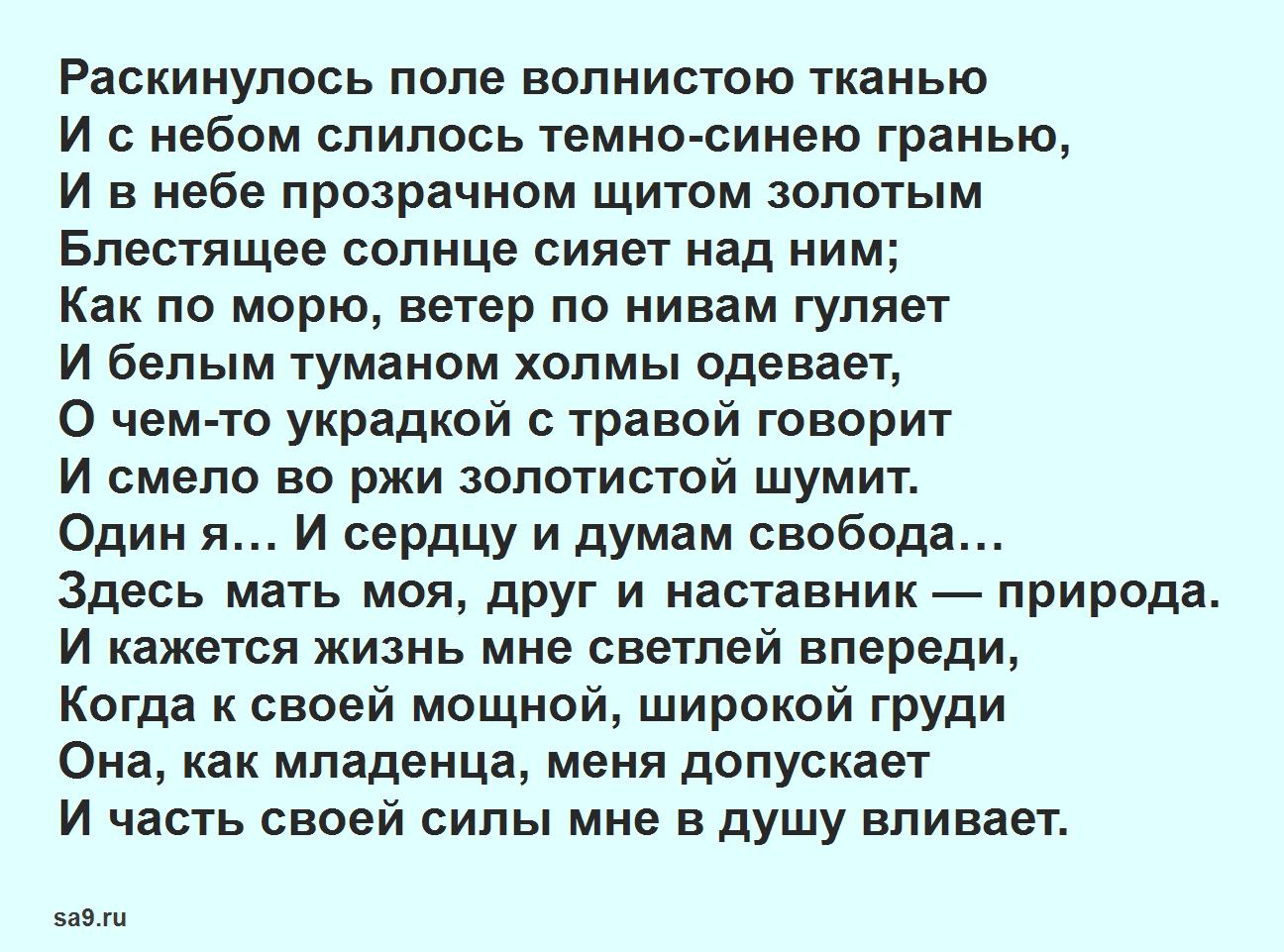 Читать стихи Никитина - Поле