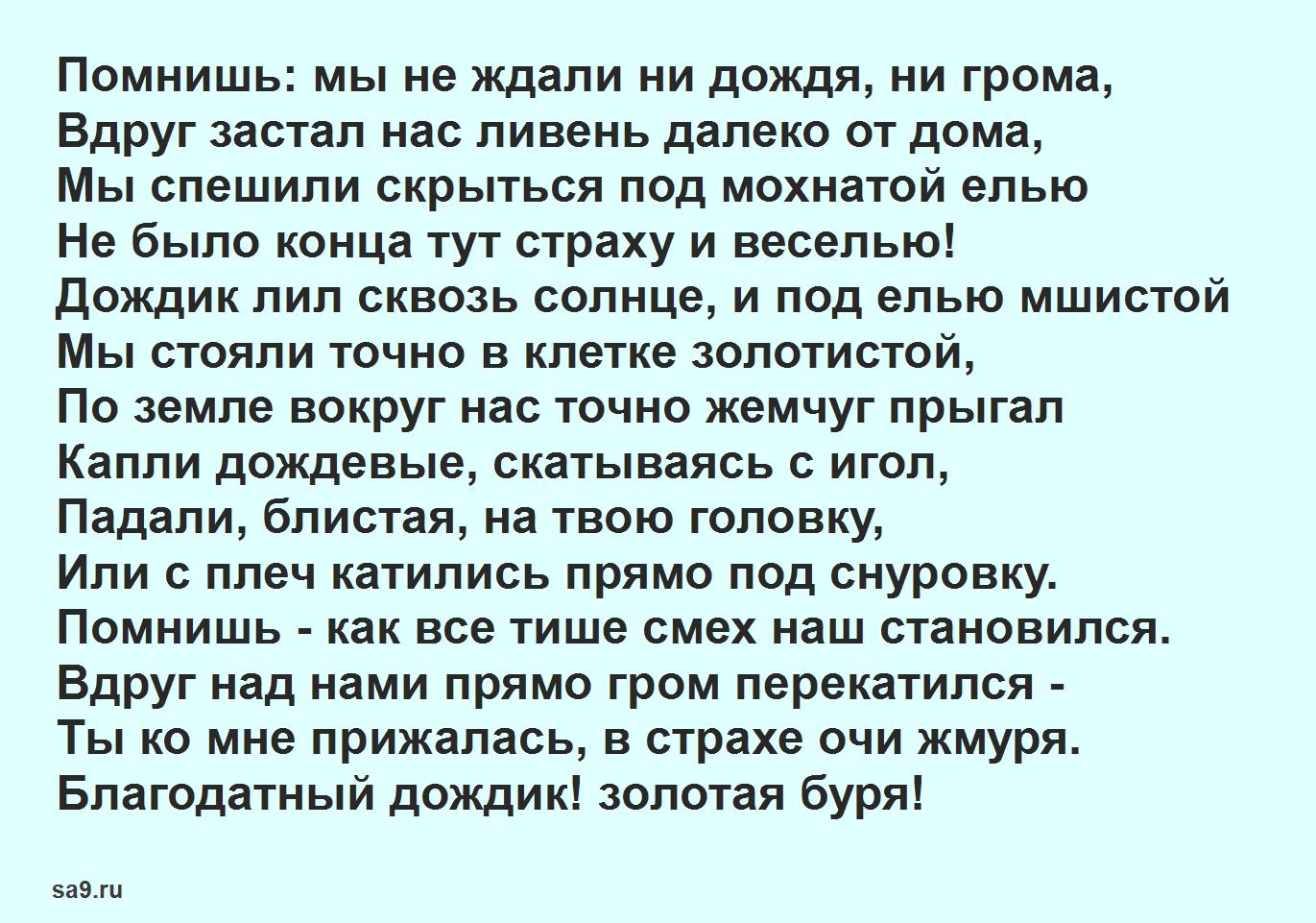 Стихи Майкова - Под дождем