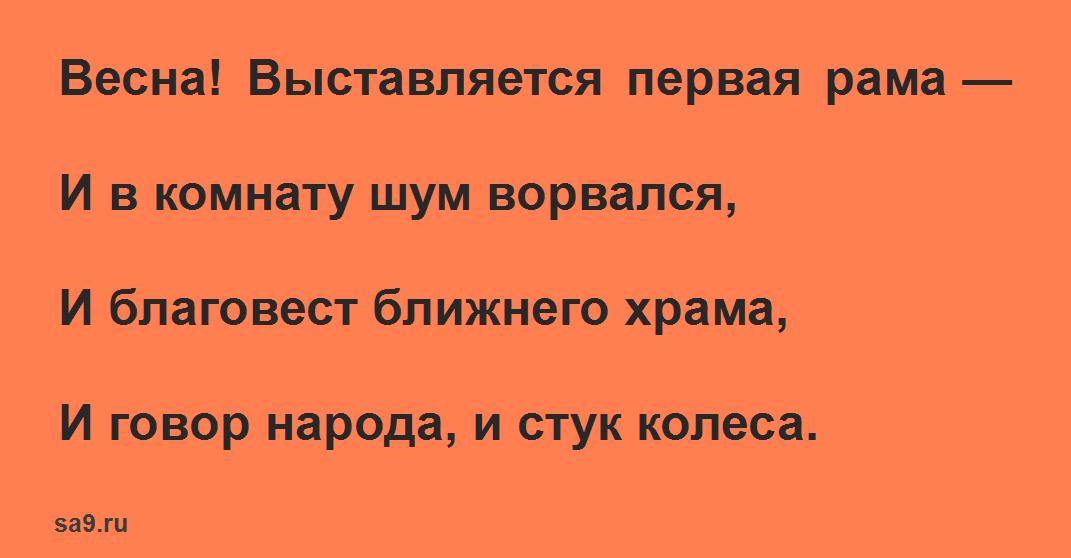 Читать короткие стихи Майкова для детей 1 класса - Весна