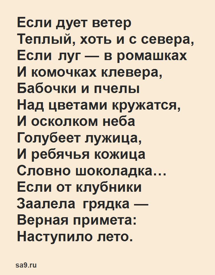 Детские стихи для дошкольников - Лето, Корчагина
