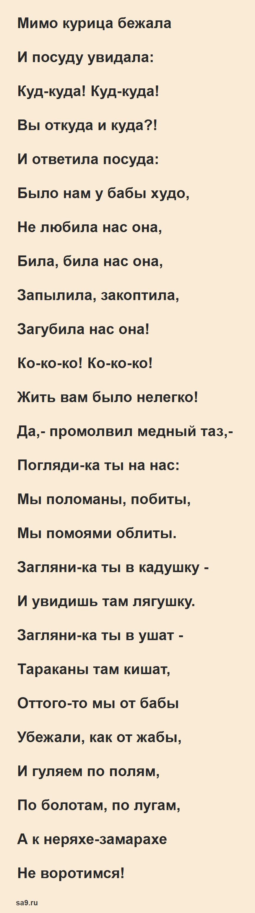 Сказка Чуковского 'Федорино горе', полностью