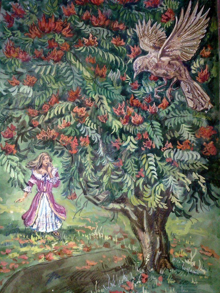 Сказка Тюльпанное дерево, Василий Жуковский