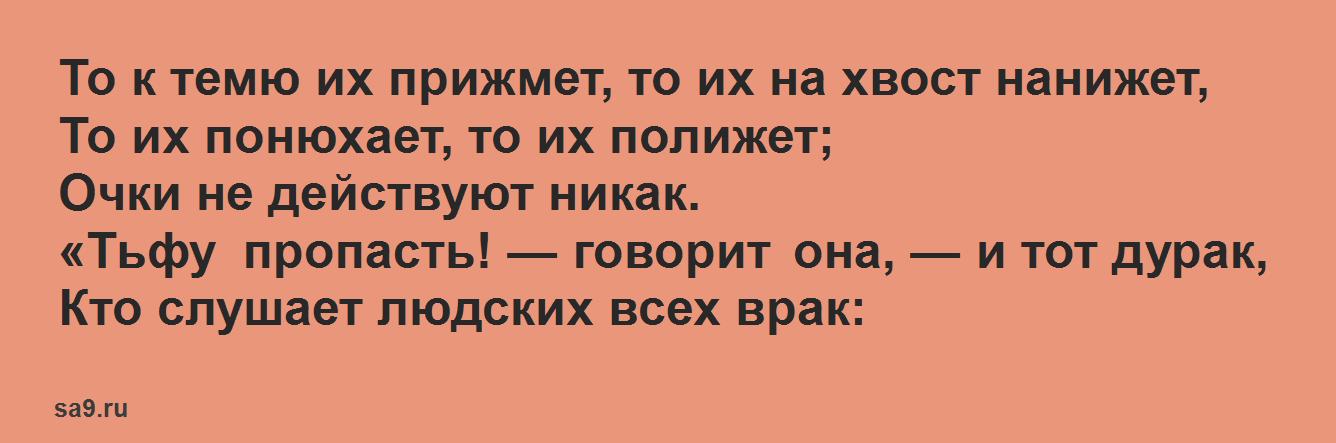 Басня Крылова 'Мартышка и очки'