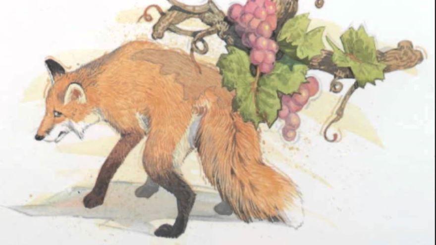 Басня Лиса и виноград, Диего Веласкес Эзопа