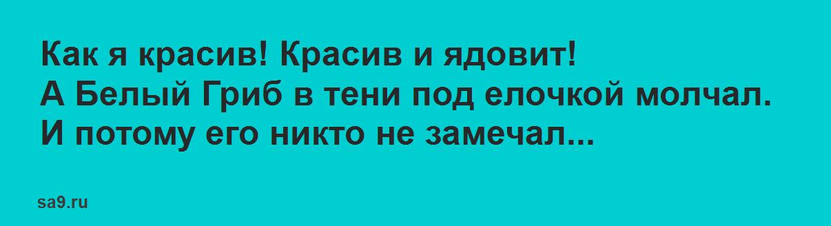 Басня Михалкова 'Грибы'