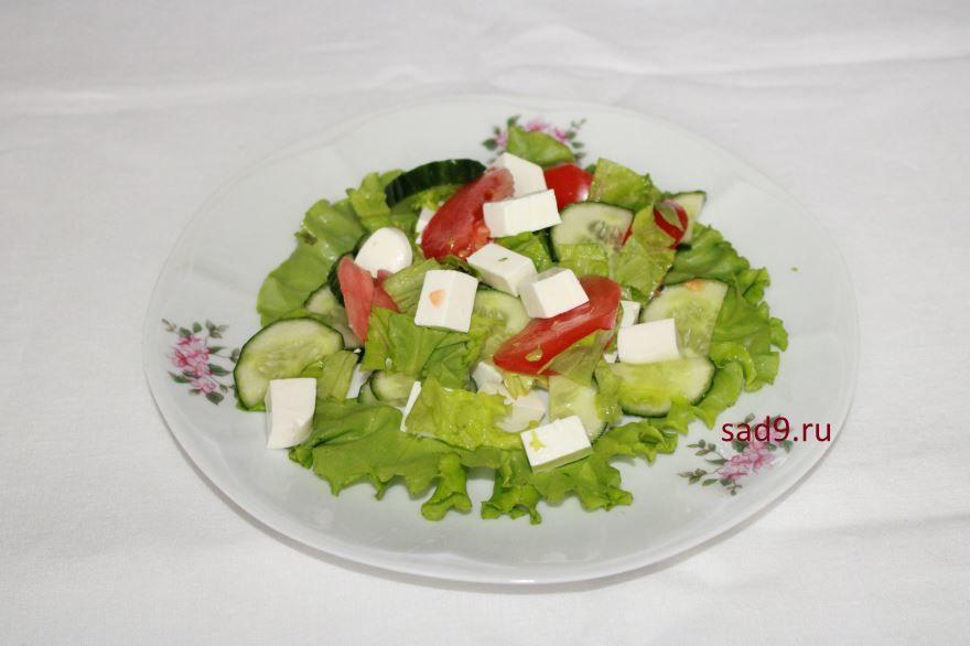 Простой салат Греческий, пошагово с фото