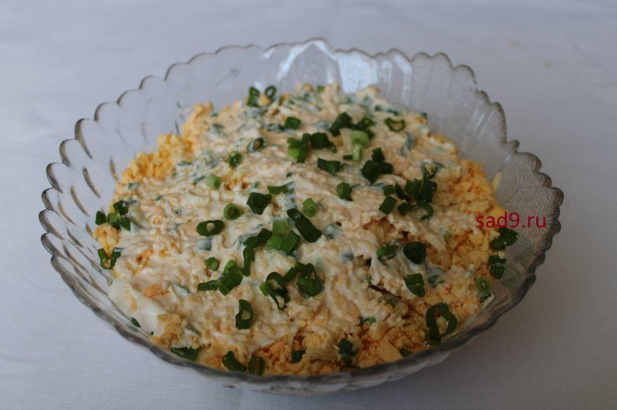 Простой салат Мимоза, пошагово с фото