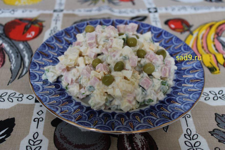 Салат Оливье с колбасой лучший рецепт, способ приготовления с фото