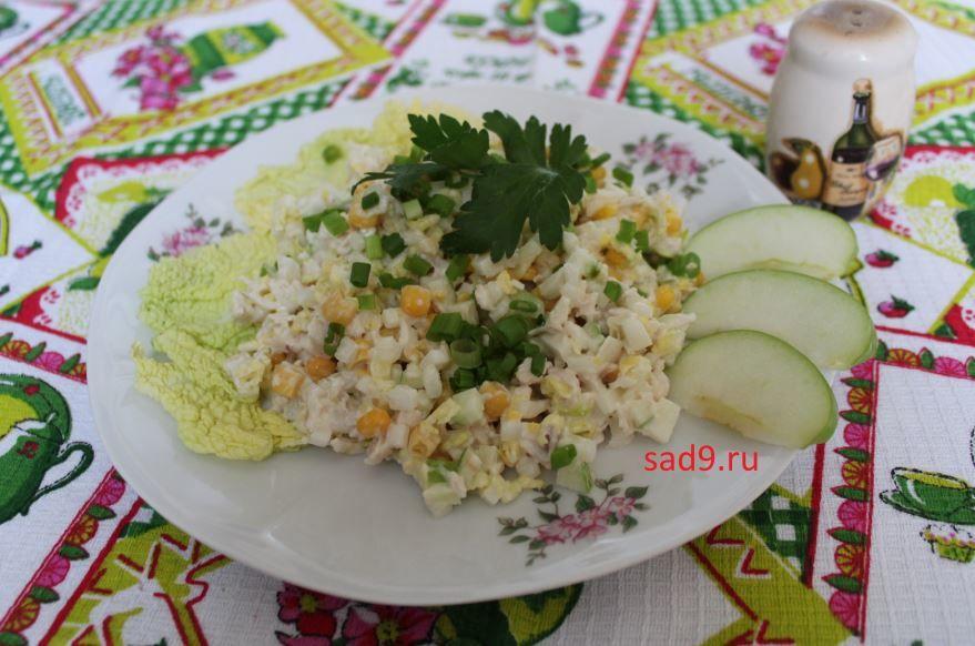 Простой салат с курицей классический пошагово с фото