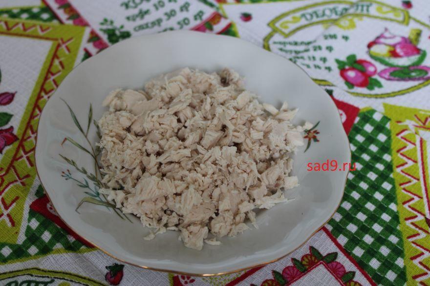 Рецепт салата с курицей, классический