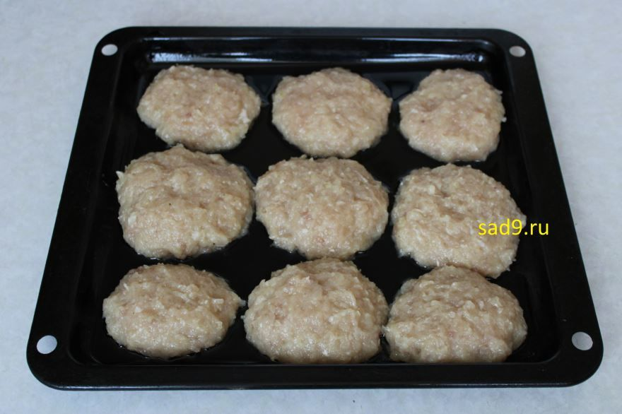 Котлеты из куриного фарша, рецепт с фото