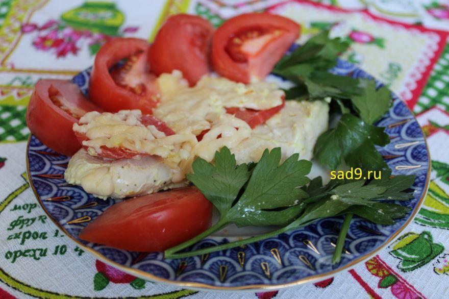 Курица с сыром, в духовке