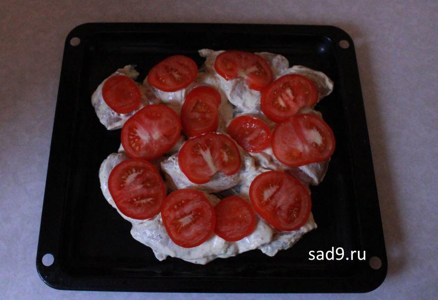 Курица с помидорами и сыром рецепт с фото пошагово