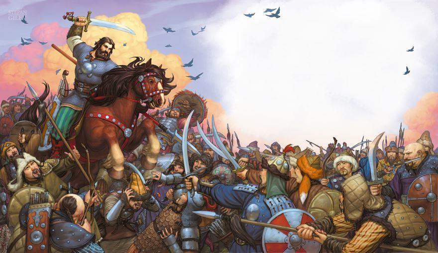 Былина Илья Муромец и Калин царь