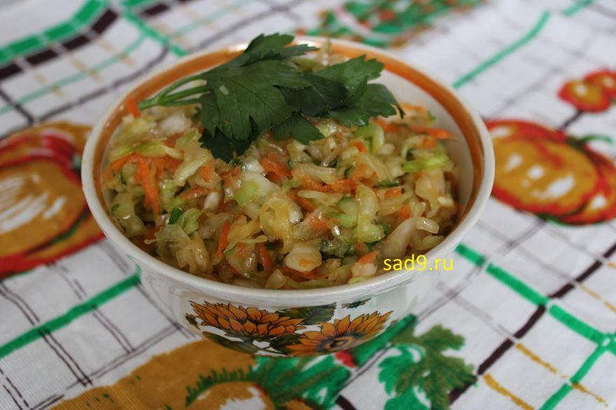 Салат из капусты с морковью, с фото пошагово
