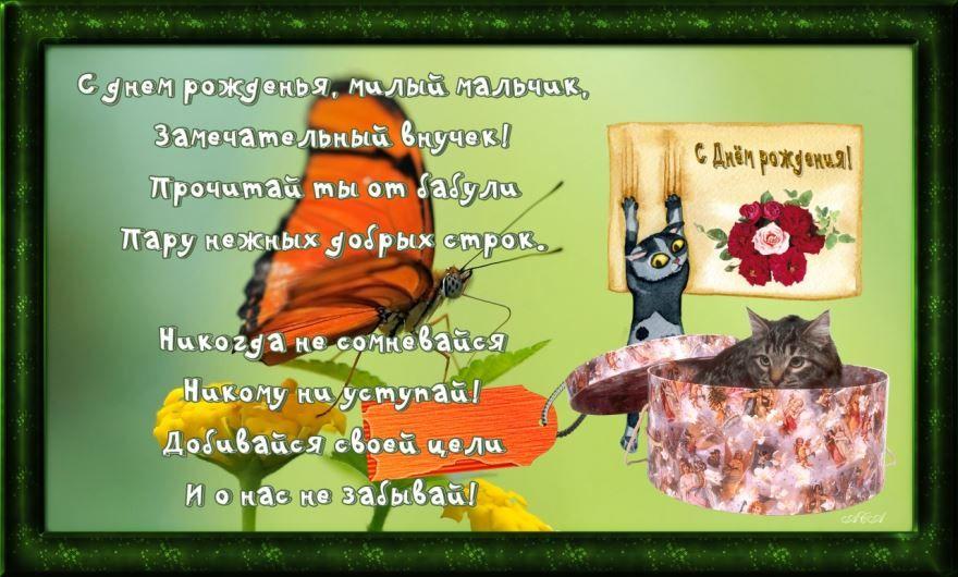 Прикольные стихи внуку с днем рождения