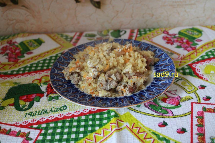 Вкусный и простой рецепт булгура с фаршем в духовке