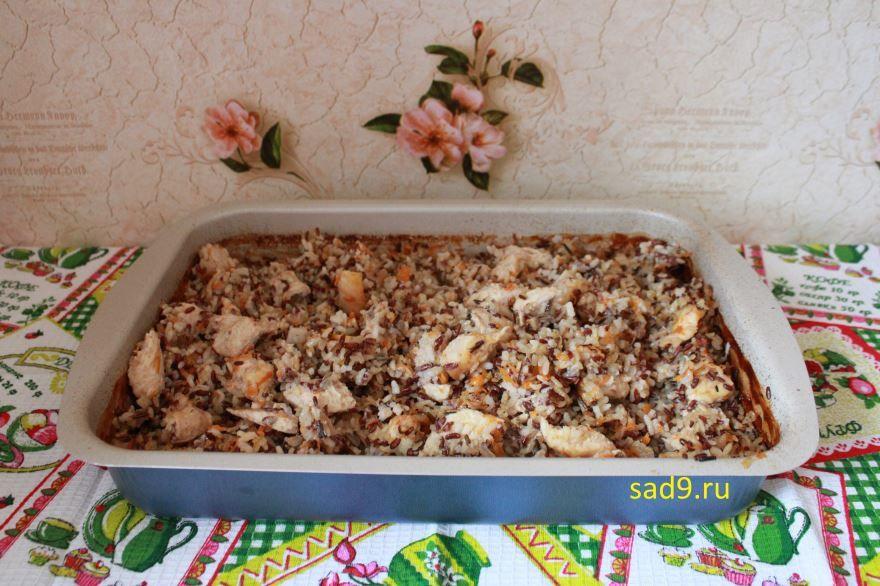Способ приготовления курицы с рисом с фото пошагово