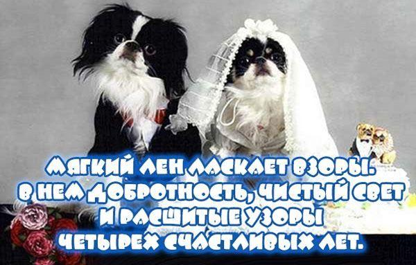 Стихи с годовщиной Свадьбы 4 года
