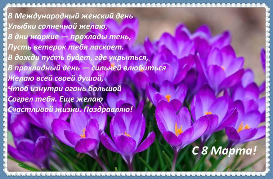 Красивые стихи поздравление с праздником 8 марта любимым женщинам