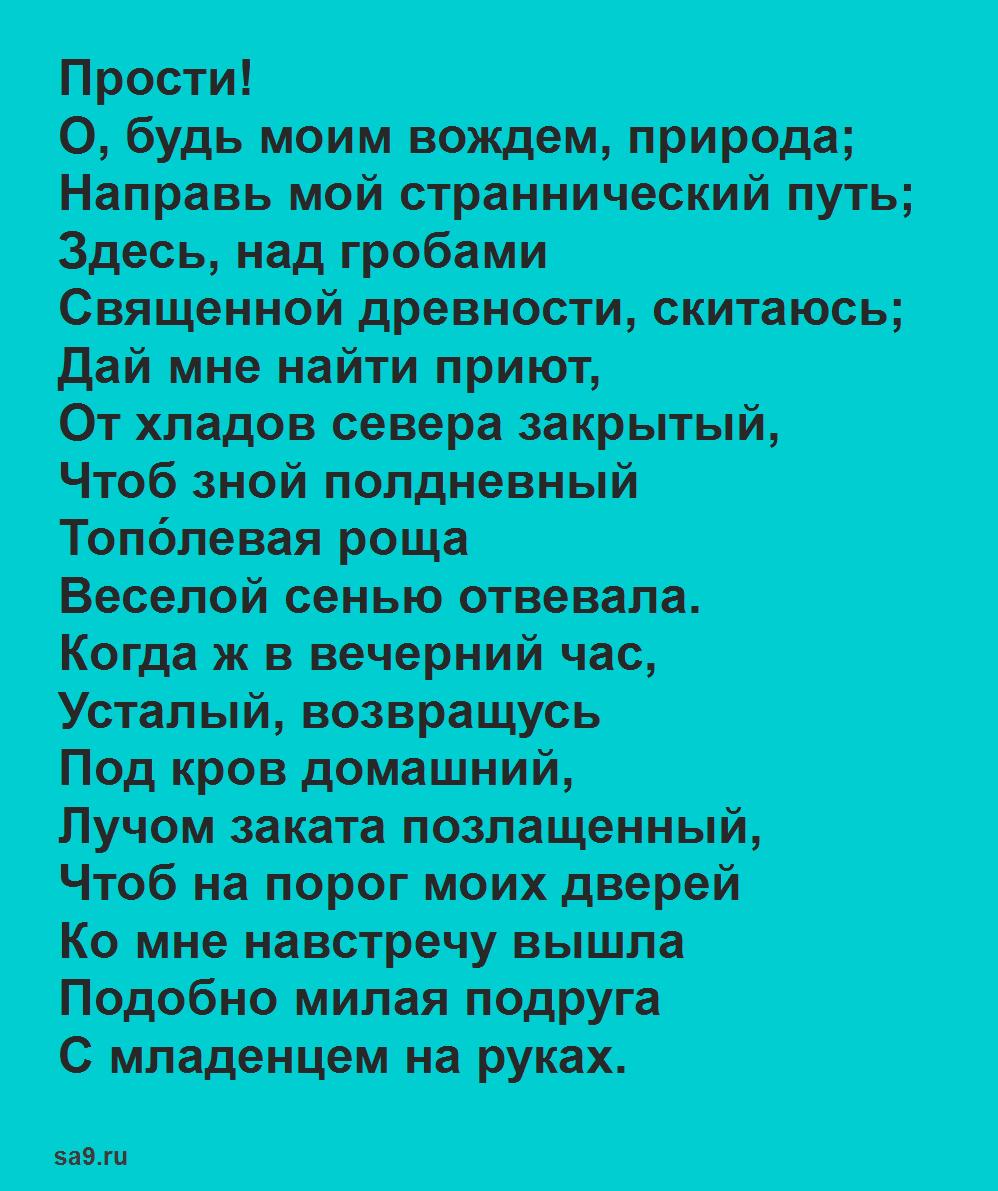 Стихи Василия Жуковского - Прости