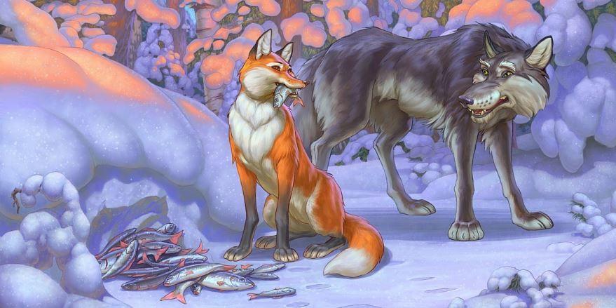 Лисичка сестричка и серый волк русская народная сказка
