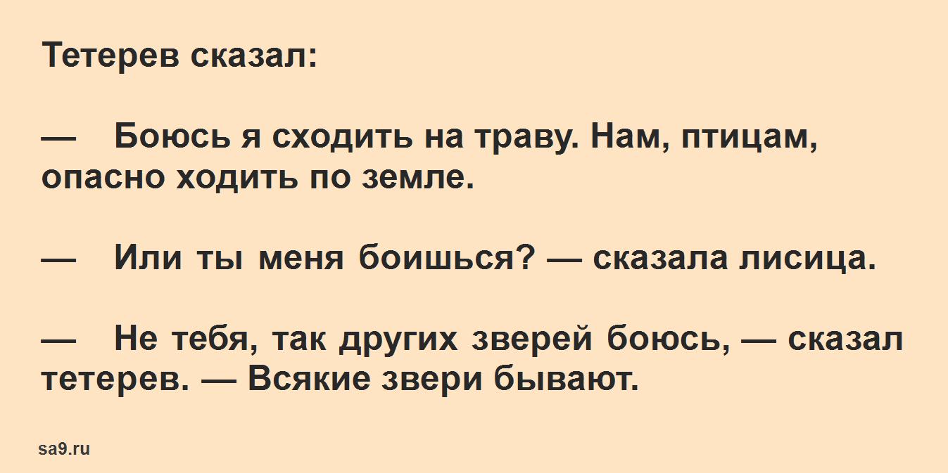 Русская народная сказка для детей – Лиса и тетерев