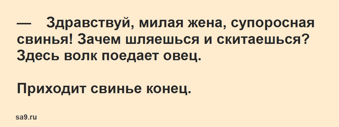 Русская народная сказка для детей – Свинья и волк