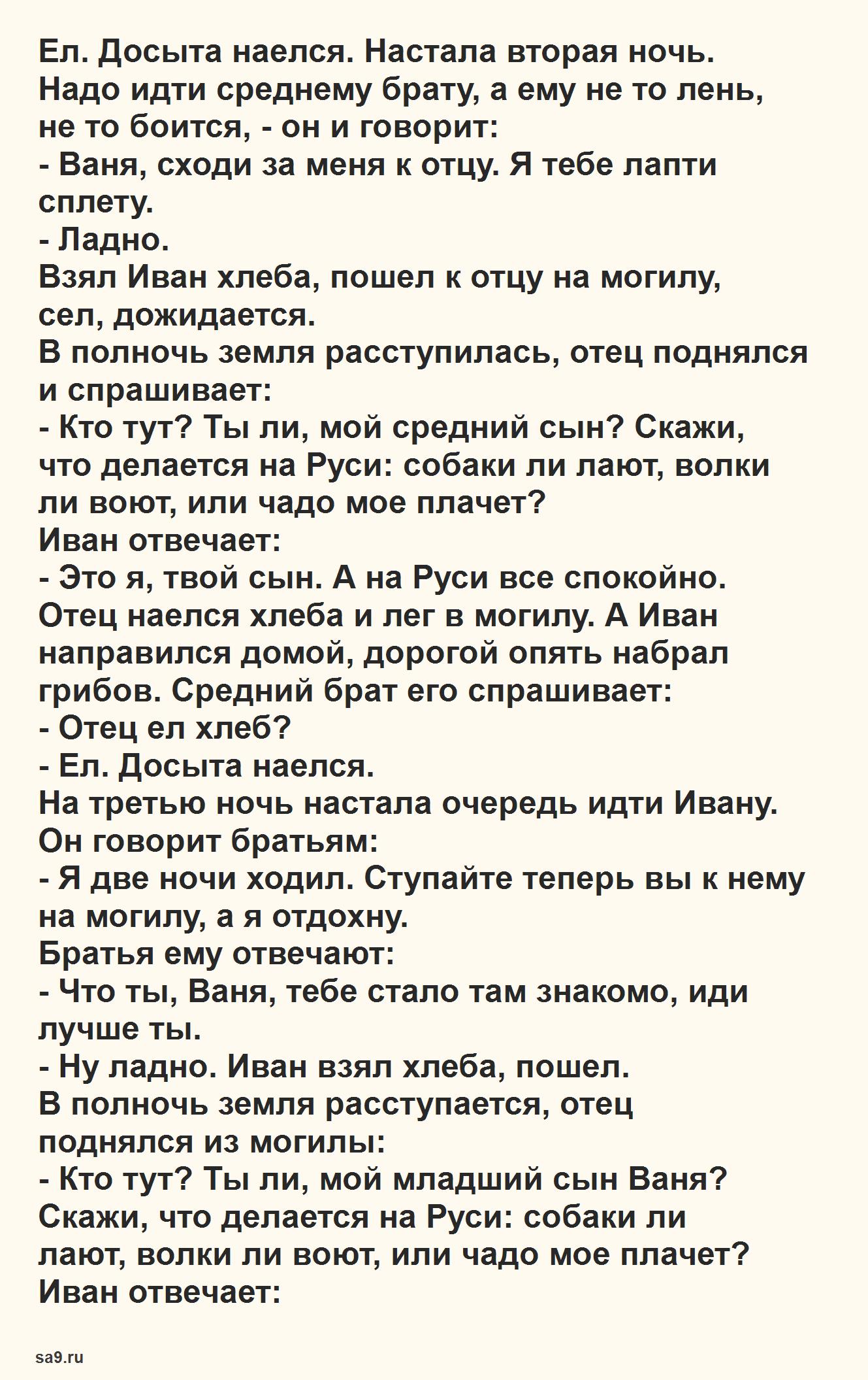 Русская народная сказка для детей – Сивка-Бурка